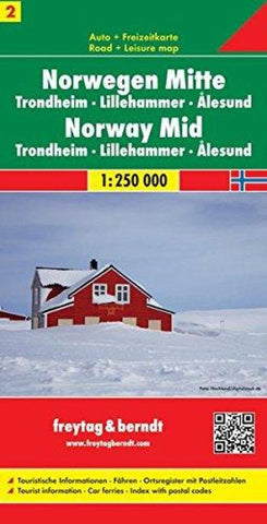 Buy map Norway, Central, Trondheim, Lillehammer and Alesund by Freytag-Berndt und Artaria