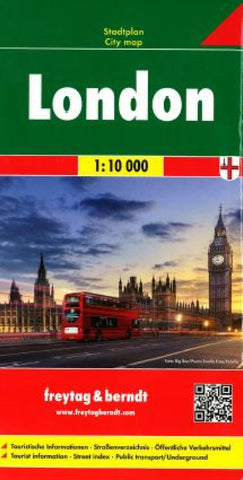 Buy map London, United Kingdom by Freytag-Berndt und Artaria