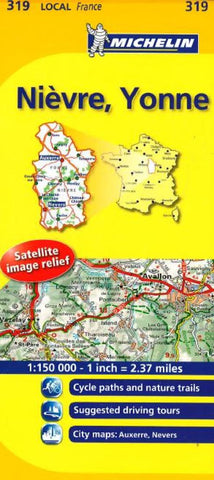 Buy map Nievre, Yonne (319) by Michelin Maps and Guides