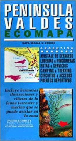 Buy map Valdes Peninsula Ecomapa by Zagier y Urruty