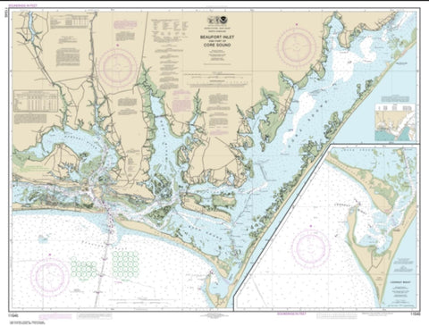 Buy map Beaufort Inlet and Part of Core Sound; Lookout Bight (11545-65) by NOAA