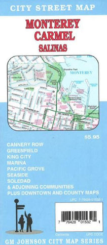 Buy map Monterey, Carmel, and Salinas, California by GM Johnson