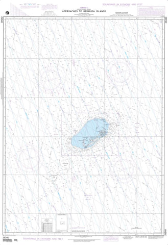Buy map Approaches To Bermuda Islands (NGA-26340-5) by National Geospatial-Intelligence Agency