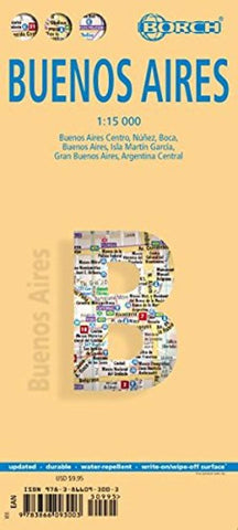 Buy map Buenos Aires, Argentina by Borch GmbH.