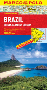 Buy map Brazil, Bolivia, Paraguay and Uruguay by Marco Polo Travel Publishing Ltd