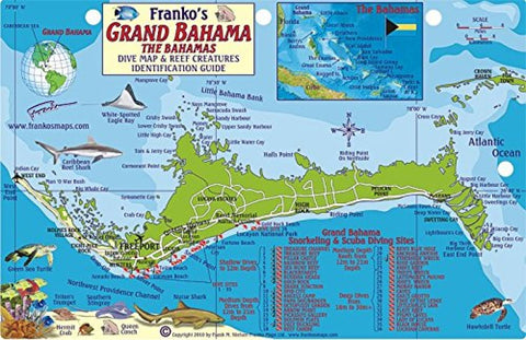 Buy map Bahamas Fish Card, Grand Bahama 2010 by Frankos Maps Ltd.