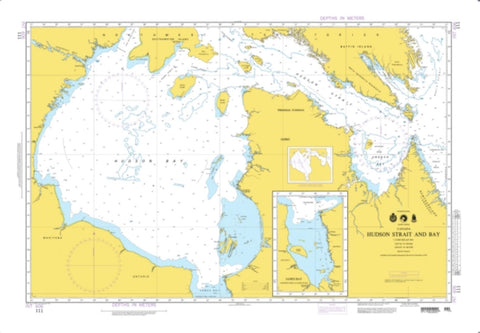 Buy map Hudson Strait And Bay (NGA-111-3) by National Geospatial-Intelligence Agency