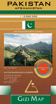 Buy map Pakistan Geographical Map by GiziMap