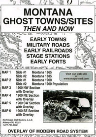 Buy map Montana, Ghost Towns, 5-Map Set, Then and Now by Northwest Distributors
