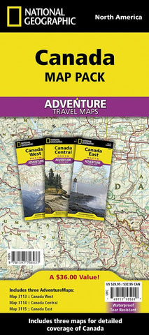 Buy map Canada, Map Pack Bundle by National Geographic Maps