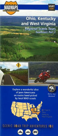 Buy map Ohio, Kentucky and West Virginia, Regional Scenic Tours by MAD Maps