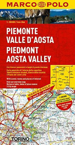 Buy map Piedmont and Aosta Valley, Italy by Marco Polo Travel Publishing Ltd