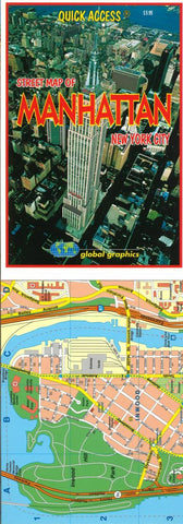 Buy map Manhattan, New York, Quick Access Map by Global Graphics