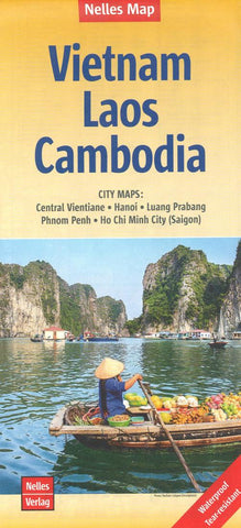 Buy map Vietnam, Laos and Cambodia by Nelles Verlag GmbH
