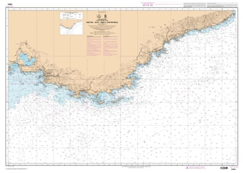 Buy map De Fos-sur-Mer a Capo Mele by SHOM