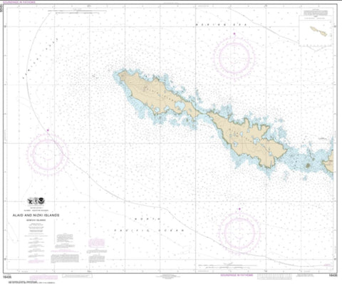 Buy map Semichi Islands Alaid and Nizki Islands (16435-7) by NOAA