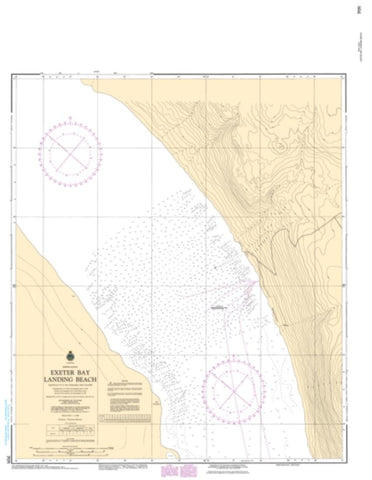 Buy map Exeter Bay Landing Beach by Canadian Hydrographic Service