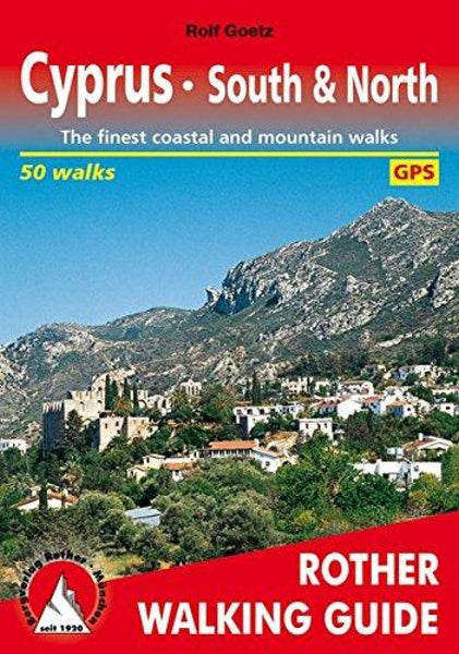 Buy map Cyprus, South and North, Walking Guide by Rother Walking Guide, Bergverlag Rudolf Rother