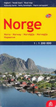 Buy map Norway, Road Map by Jana Seta