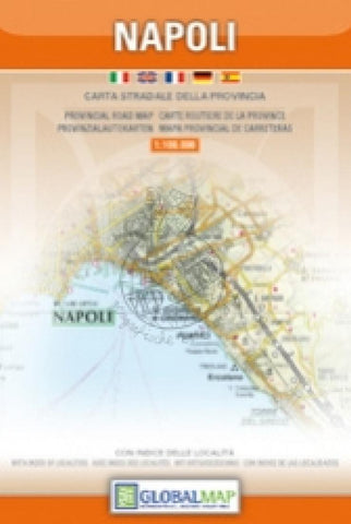 Buy map Naples Province, Italy by Litografia Artistica Cartografica