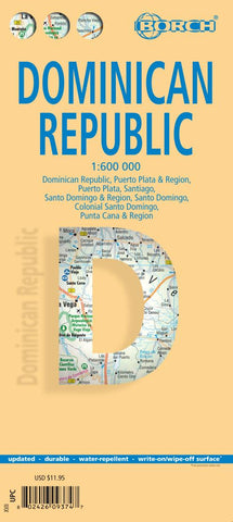 Buy map Dominican Republic by Borch GmbH.