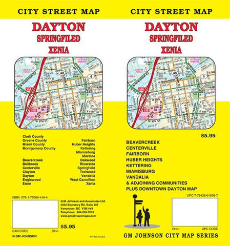 Buy map Dayton, Ohio by GM Johnson