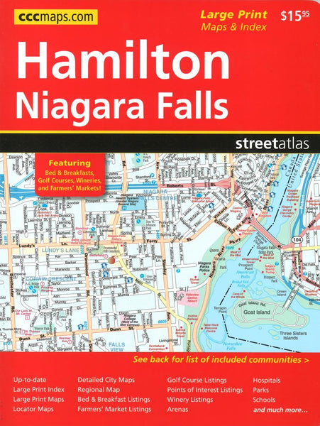 Buy map Hamilton and Niagara Falls, ON Street Atlas (Large Print) by Canadian Cartographics Corporation