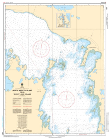 Buy map North Manitou Island to/a Whiskey Jack Island by Canadian Hydrographic Service