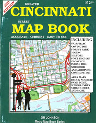 Buy map Cincinnati, Ohio, Street Map Atlas by GM Johnson