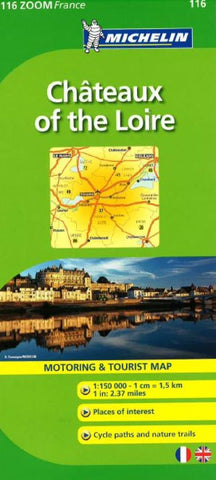 Buy map Chateaux Of The Loire (116) by Michelin Maps and Guides