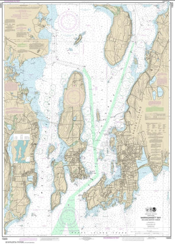 Buy map Narragansett Bay, Including Newport Harbor (13223-43) by NOAA