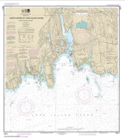 Buy map North Shore of Long Island Sound Niantic Bay and Vicinity (13211-16) by NOAA