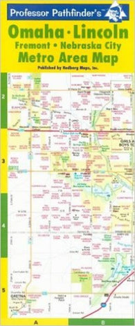 Buy map Omaha and Lincoln, Nebraska, laminated by Hedberg Maps