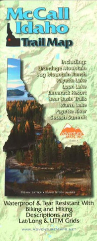 Buy map McCall, Idaho Trail Map by Adventure Maps