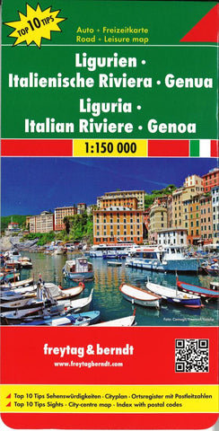 Buy map Liguria, Italy by Freytag-Berndt und Artaria