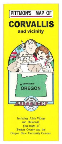 Buy map Corvallis and Benton County, Oregon by Pittmon Map Company