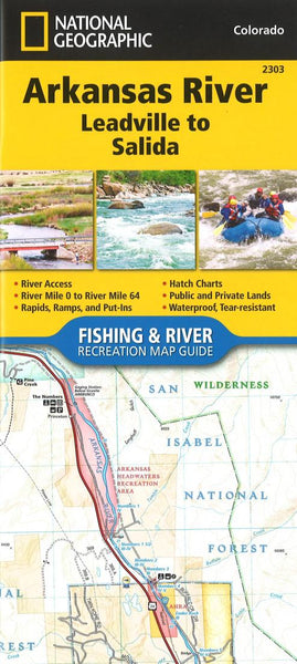 Buy map Arkansas River, Leadville to Salida, CO (Map 2303) by National Geographic Maps