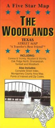 Buy map Woodlands and South Montgomery County, Texas by Five Star Maps, Inc.