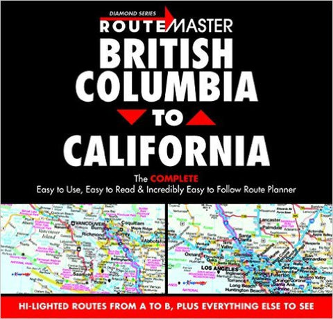 Buy map British Columbia to California, Drop-Down Route Planner by Route Master