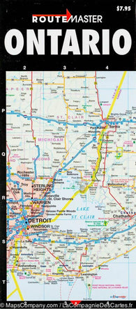 Buy map Ontario Quick Fold, Laminated by Route Master