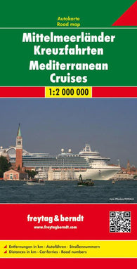 Buy map Mediterranean Cruises by Freytag-Berndt und Artaria