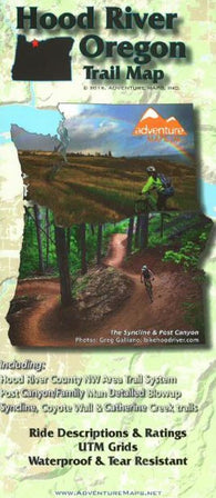 Buy map Hood River, Oregon, Trail Map by Adventure Maps