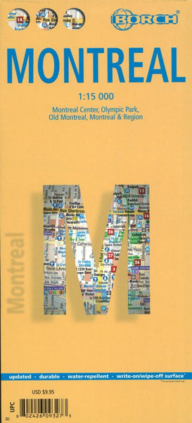 Buy map Montreal, Canada by Borch GmbH.