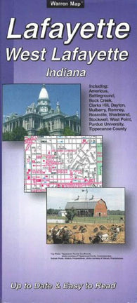 Buy map Lafayette and West Lafayette, Indiana by The Seeger Map Company Inc.