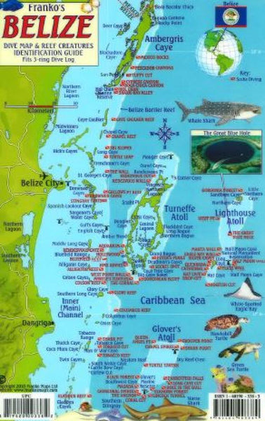 Buy map Caribbean Fish Card, Belize 2010 by Frankos Maps Ltd.