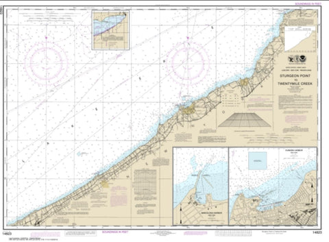 Buy map Sturgeon Point to Twentymile Creek; Dunkirk Harbor; Barcelona Harbor (14823-31) by NOAA
