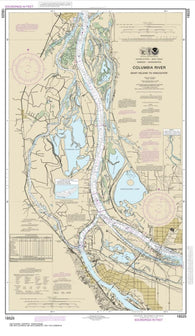 Buy map Columbia River Saint Helens to Vancouver (18525-37) by NOAA