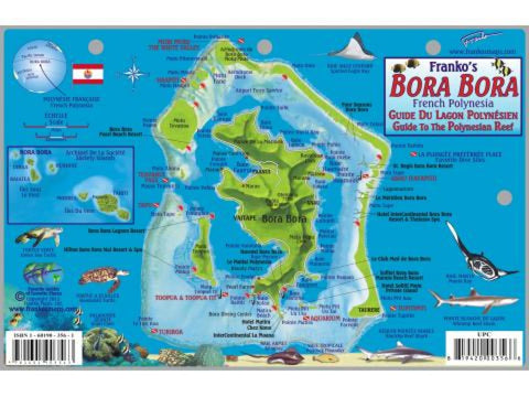 Buy map Bora Bora Fish Card, French Polynesia by Frankos Maps Ltd.