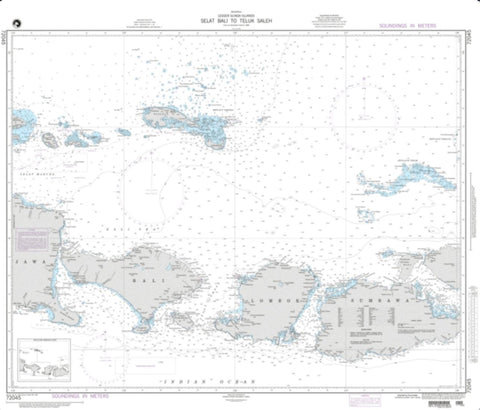 Buy map Selat Bali To Tembuk Saleh (NGA-72045-2) by National Geospatial-Intelligence Agency