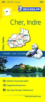 Buy map Cher, Indre (323) by Michelin Maps and Guides